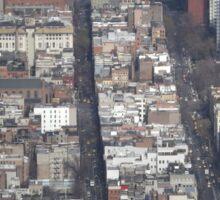 Aerial View, Greenwich Village, One World Observatory, World Trade Center Observation Deck, Lower Manhattan, New York City Sticker