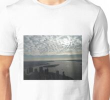 Aerial View, Lower Manhattan, Hudson River, New York Harbor, One World Observatory, World Trade Center Observation Deck, Lower Manhattan, New York City Unisex T-Shirt