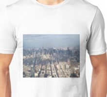 Aerial View, Midtown Manhattan, One World Observatory, World Trade Center Observation Deck, Lower Manhattan, New York City Unisex T-Shirt