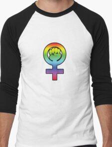 Women's Power / Feminist Symbol 3 Rainbow Men's Baseball ¾ T-Shirt