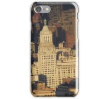 Aerial View, Union Square, Sunset,  One World Observatory, World Trade Center Observation Deck, Lower Manhattan, New York City iPhone Case/Skin