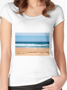 Bilgola Beach Sydney Australia Women's Fitted Scoop T-Shirt