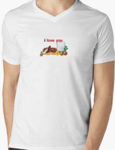 Nutella I Love You Mens V-Neck T-Shirt