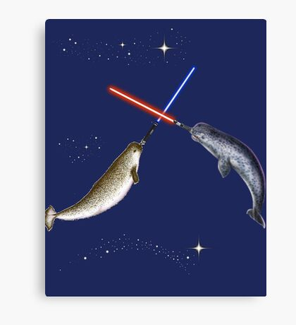 Jedi Narwhal  Canvas Print