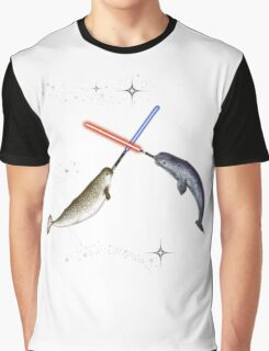 Jedi Narwhal  Graphic T-Shirt