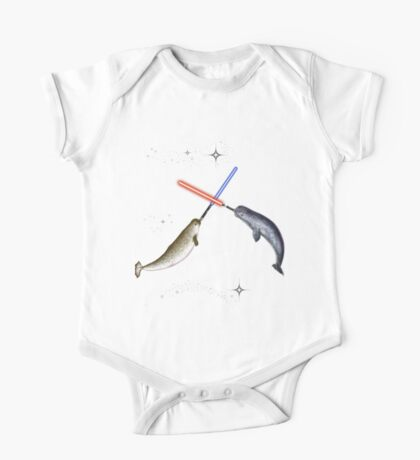 Jedi Narwhal  One Piece - Short Sleeve