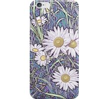 Wildflower Daisies in Field of Purple and Teal iPhone Case/Skin