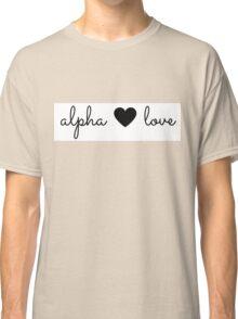 alpha love Classic T-Shirt