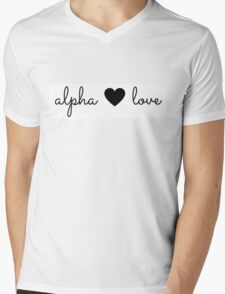 alpha love Mens V-Neck T-Shirt