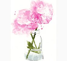 Pink Peonies Womens Fitted T-Shirt