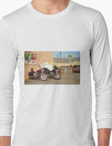 Route 66 - Grants, New Mexico Motorcycles Long Sleeve T-Shirt