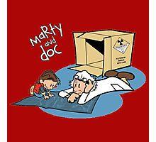 Marty & Doc Reading Photographic Print