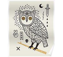 Hypno Owl Poster