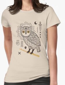 Hypno Owl Womens Fitted T-Shirt