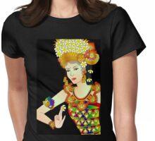Details-1 (Balinese Dancer & Frangipani) Womens Fitted T-Shirt
