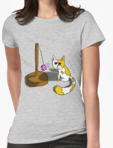 Playful Kitty Womens Fitted T-Shirt