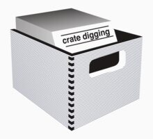 Crate Digging (dark) Kids Tee