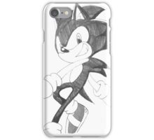 Sonic Black and White iPhone Case/Skin