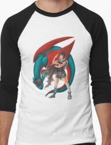 Zinnia and Salamence Men's Baseball ¾ T-Shirt