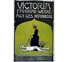 Vintage poster - Victoria Bicycles Photographic Print