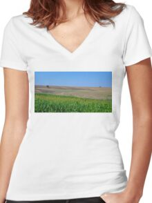Italian Landscapes Women's Fitted V-Neck T-Shirt