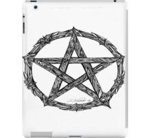 Wicca Pentacle White iPad Case/Skin