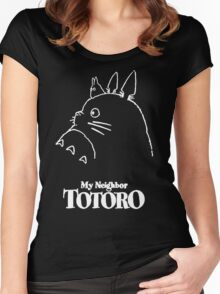 My Neighbor Totoro Studio Ghibli Women's Fitted Scoop T-Shirt