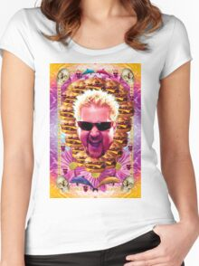 guy fieri's dank frootie glaze Women's Fitted Scoop T-Shirt