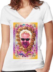 guy fieri's dank frootie glaze Women's Fitted V-Neck T-Shirt