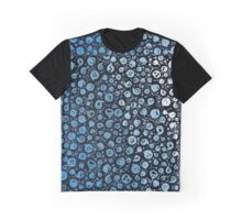 Cute Blue Ghosts Pattern Graphic T-Shirt