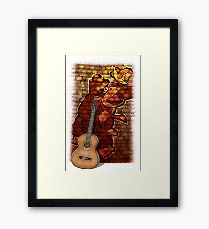 Donkey Kong & Guitar Framed Print