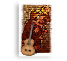 Donkey Kong & Guitar Canvas Print