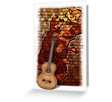 Donkey Kong & Guitar Greeting Card