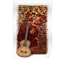 Donkey Kong & Guitar Poster