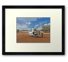 Bungle Bungles Helicopter Framed Print