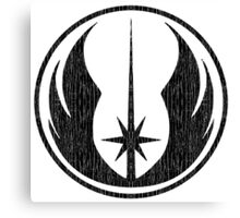 Jedi (distressed) Canvas Print