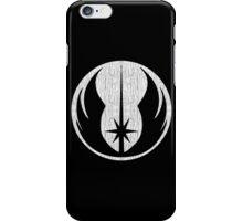 Jedi (white, distressed) iPhone Case/Skin