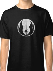Jedi (white, distressed) Classic T-Shirt