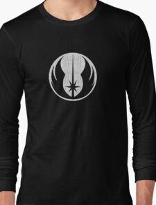 Jedi (white, distressed) Long Sleeve T-Shirt