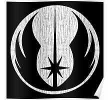 Jedi (white, distressed) Poster