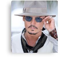 Cool Johny Depp by amdya Canvas Print