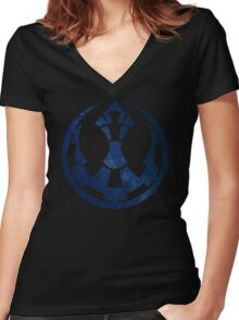 Torn Women's Fitted V-Neck T-Shirt