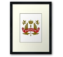 The Baroness Coat-of-Arms Framed Print