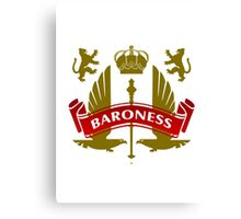 The Baroness Coat-of-Arms Canvas Print