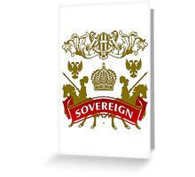 The Sovereign Coat-of-Arms Greeting Card