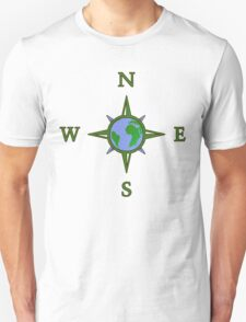 Earth Guides Explorer Travel Compass Unisex T-Shirt