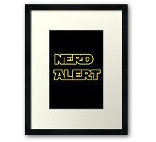 Nerd Alert Star Wars Font Framed Print