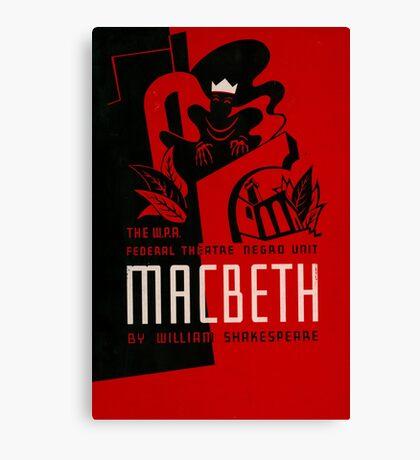 Shakespeare Macbeth Canvas Print