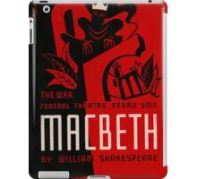 Shakespeare Macbeth iPad Case/Skin