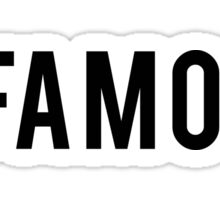 Infamous - Black Clean Sticker